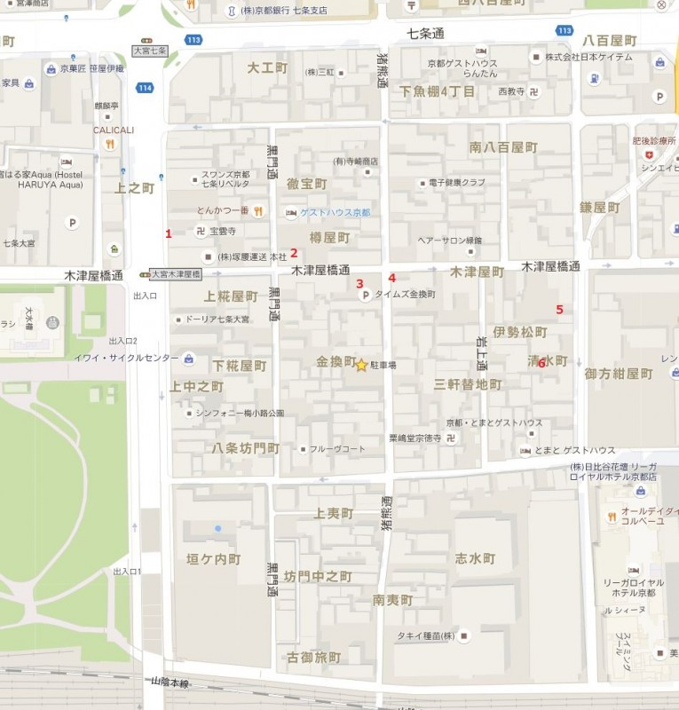 kyotosuizokukanparkingmap